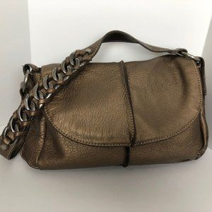 KENNETH COLE REACTION Gold/Bronze Leather Bag